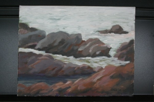 Bean Hollow State Beach Acrylic on Canvas 11x14